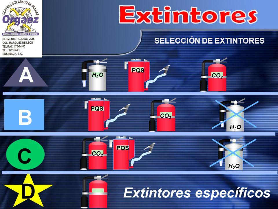 Extintores específicos