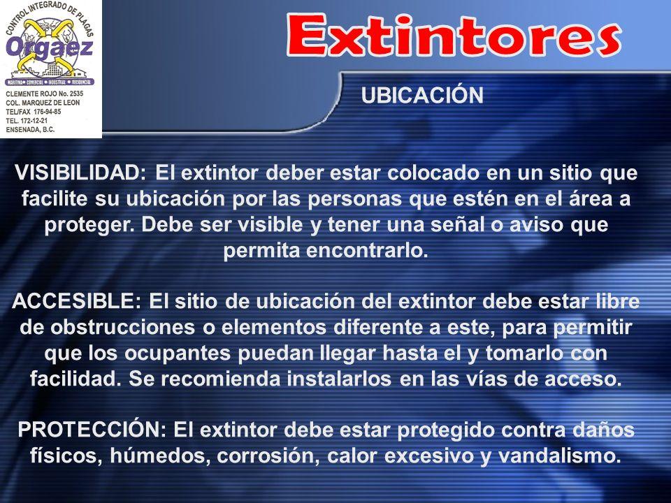 Extintores UBICACIÓN.