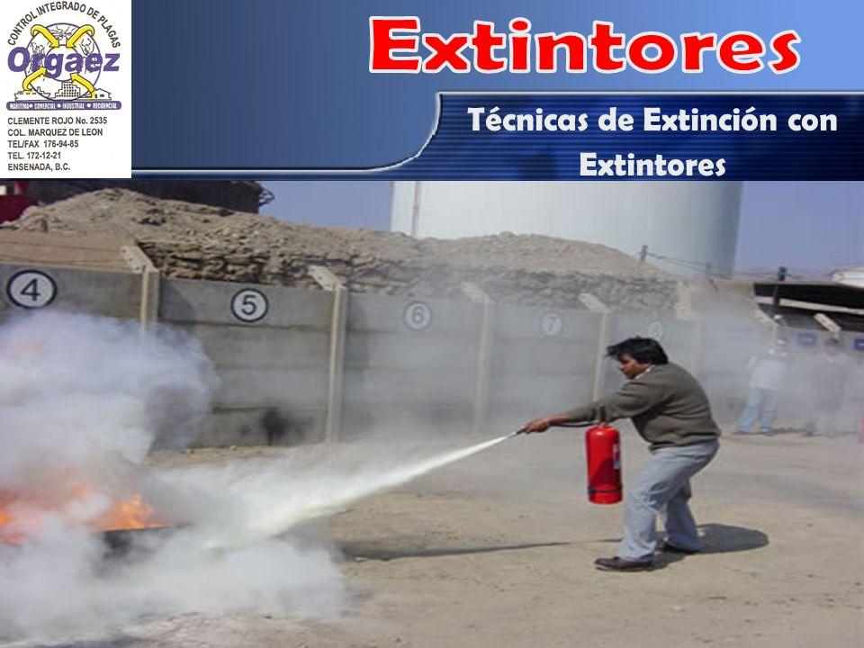 Técnicas de Extinción con Extintores