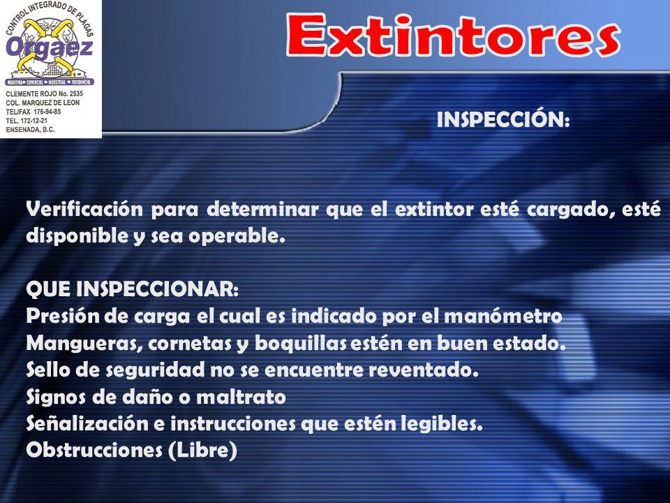 Extintores INSPECCIÓN: