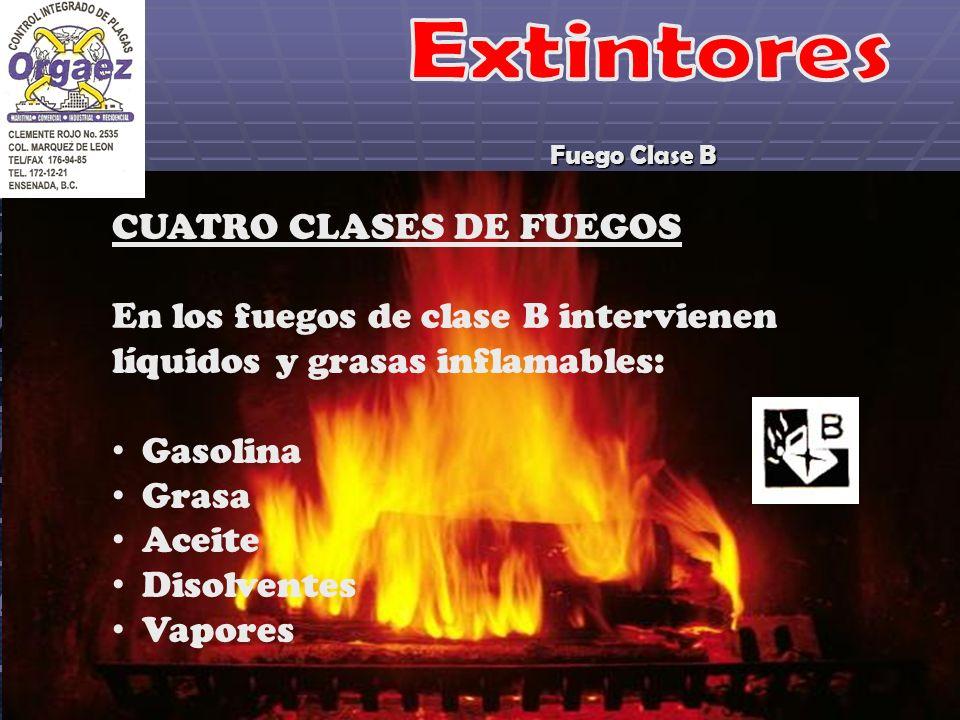 Extintores CUATRO CLASES DE FUEGOS