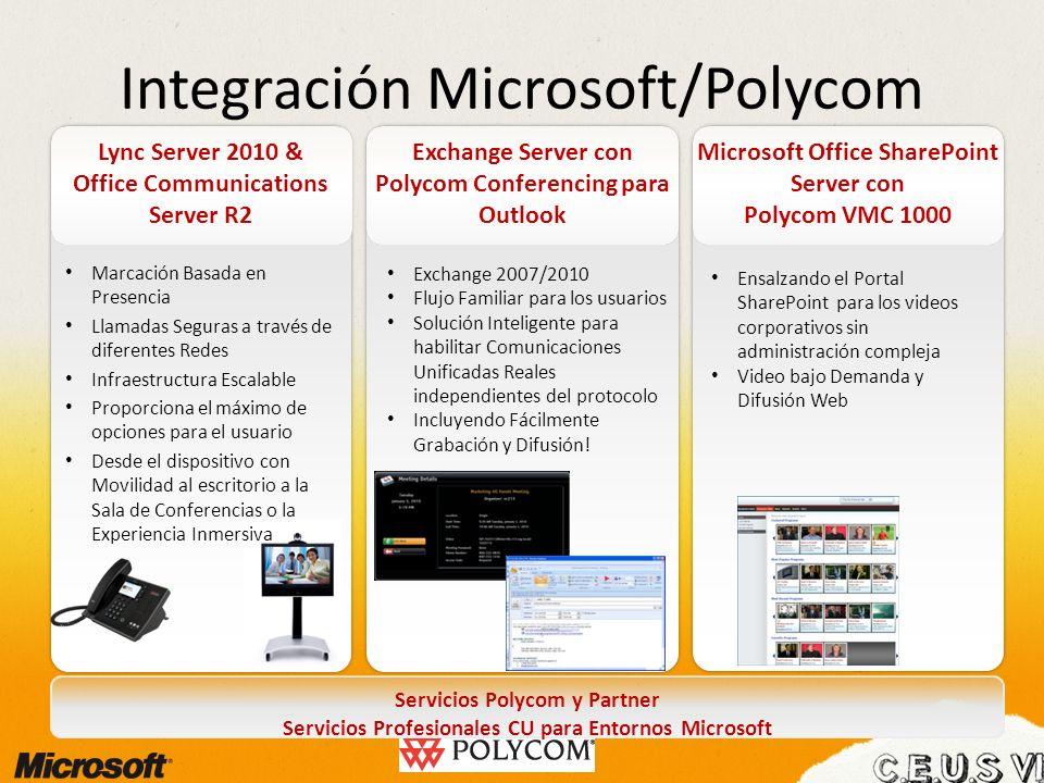 Integración Microsoft/Polycom