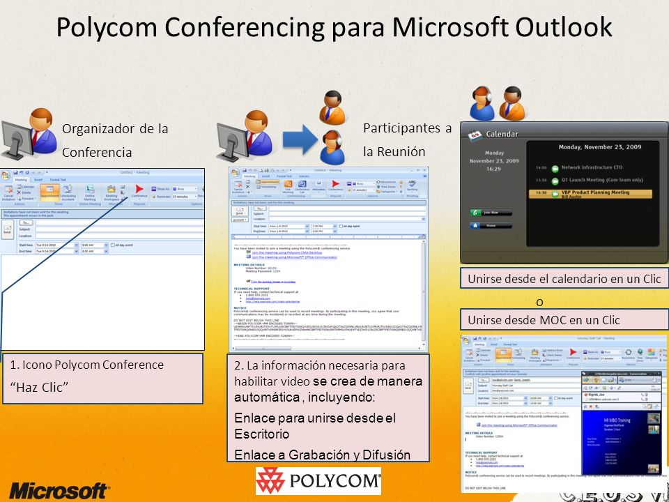 Polycom Conferencing para Microsoft Outlook