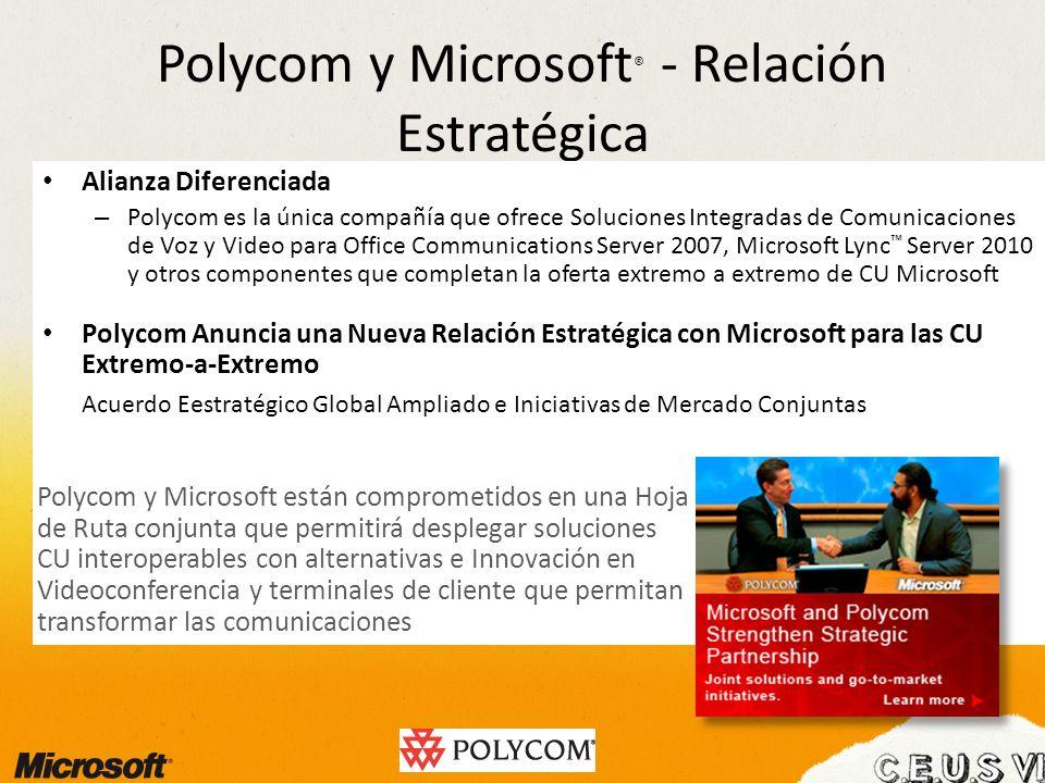 Polycom y Microsoft® - Relación Estratégica