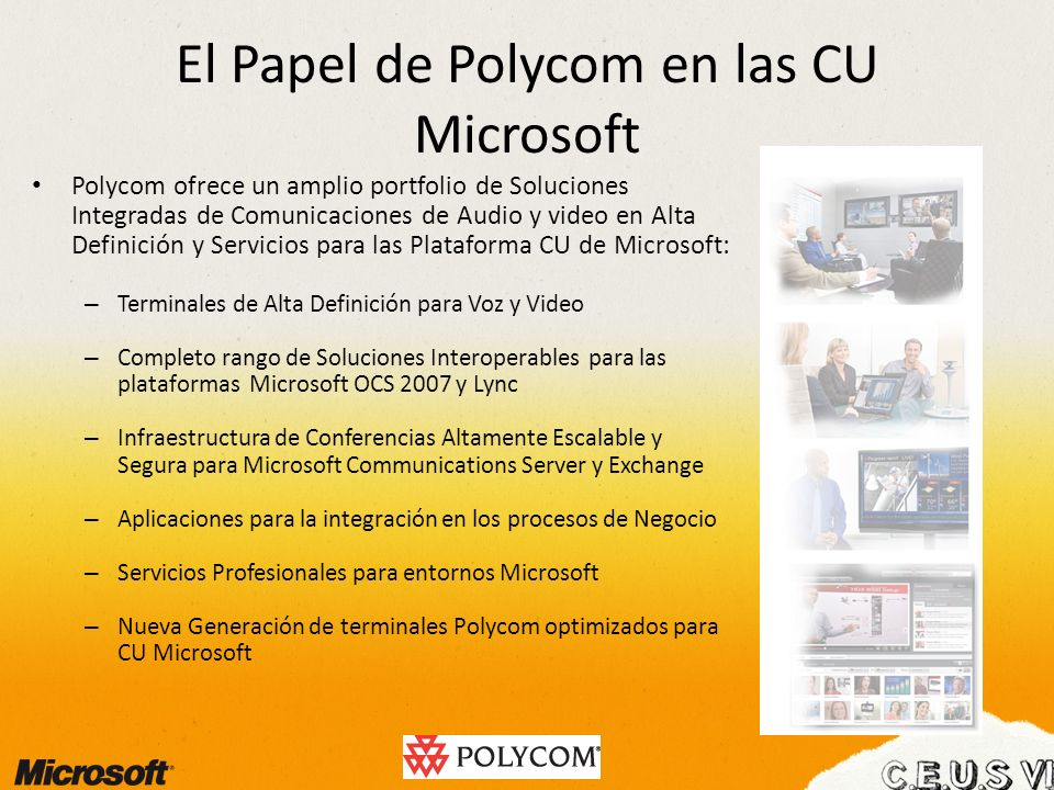 El Papel de Polycom en las CU Microsoft