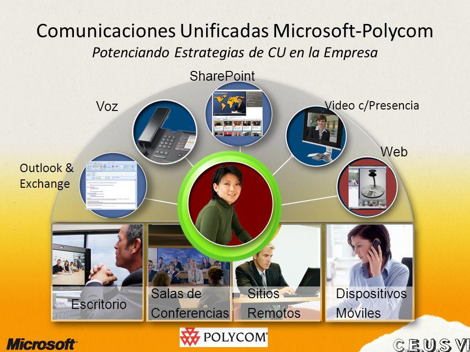 Comunicaciones Unificadas Microsoft-Polycom Potenciando Estrategias de CU en la Empresa