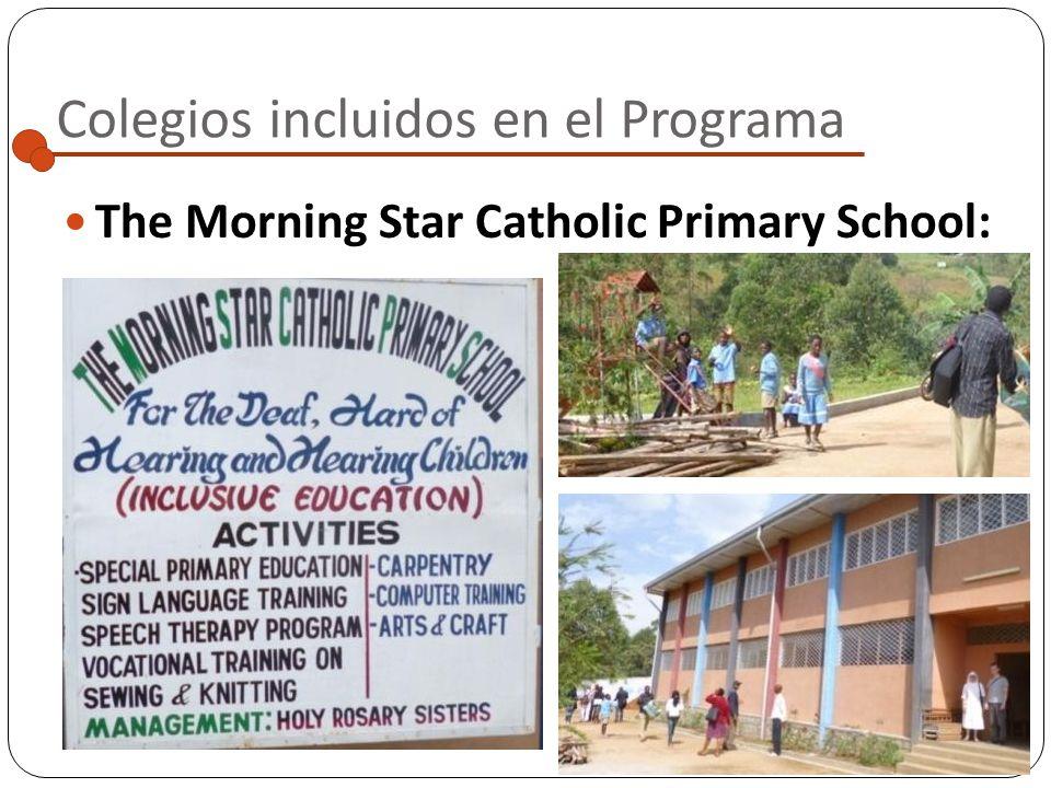 Colegios incluidos en el Programa