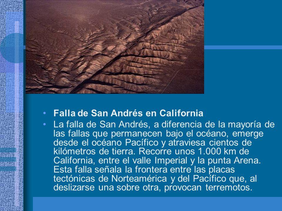 Falla de San Andrés en California