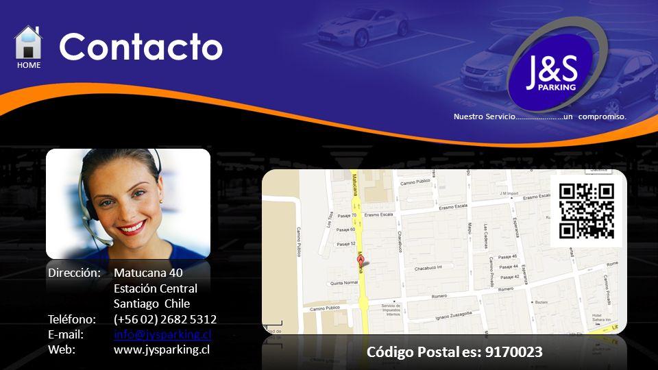 Contacto Código Postal es: 9170023 Dirección: Matucana 40