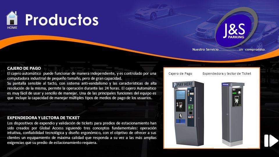 Productos CAJERO DE PAGO EXPENDEDORA Y LECTORA DE TICKET HOME