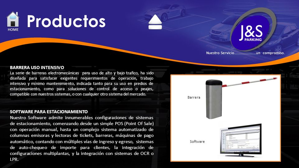 Productos BARRERA USO INTENSIVO SOFTWARE PARA ESTACIONAMIENTO