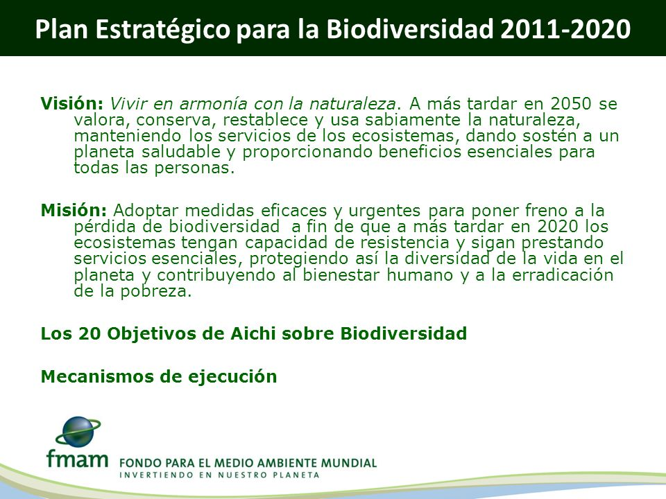 Plan Estratégico para la Biodiversidad 2011-2020