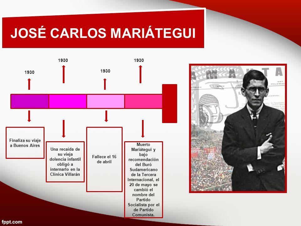 JOSÉ CARLOS MARIÁTEGUI Finaliza su viaje a Buenos Aires