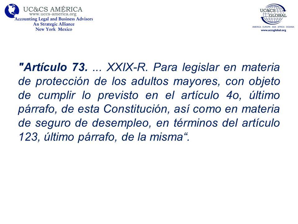Artículo 73. ... XXIX-R.