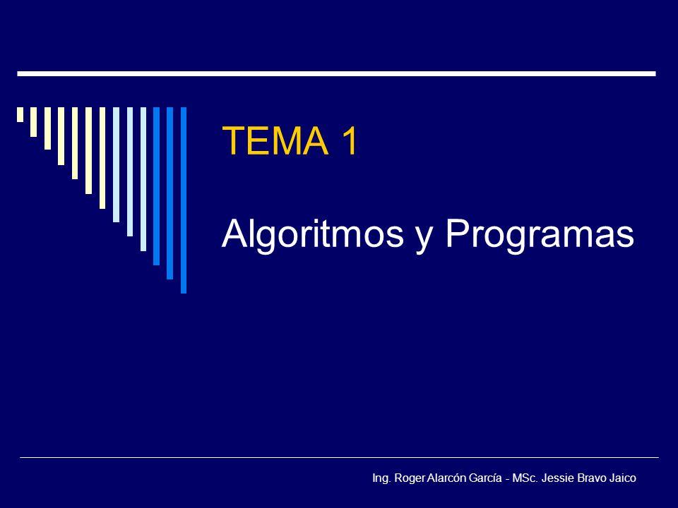 TEMA 1 Algoritmos y Programas