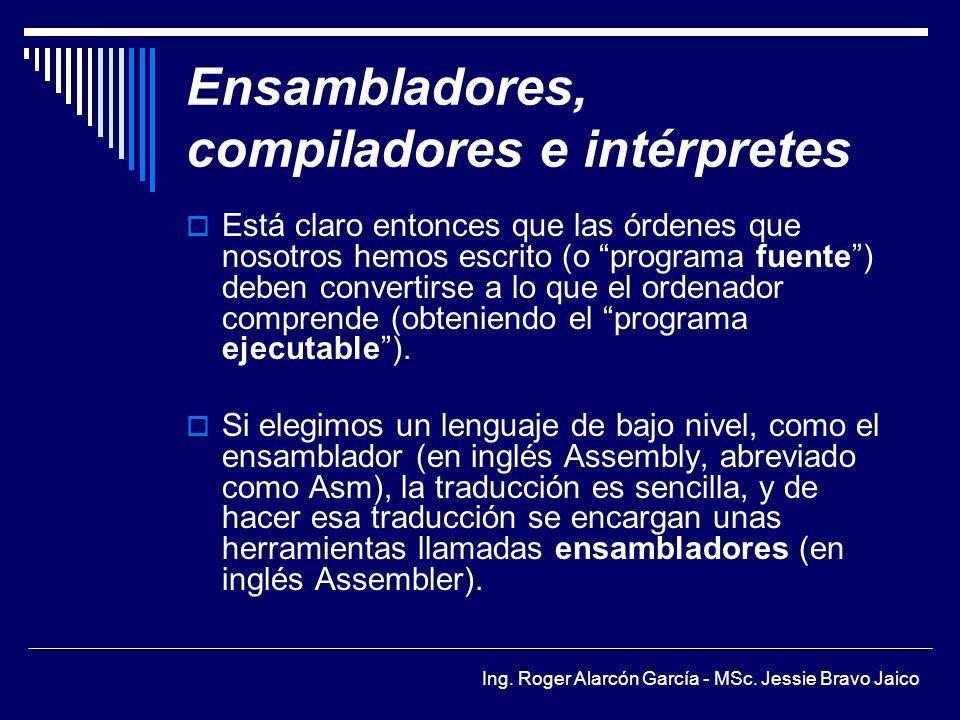 Ensambladores, compiladores e intérpretes