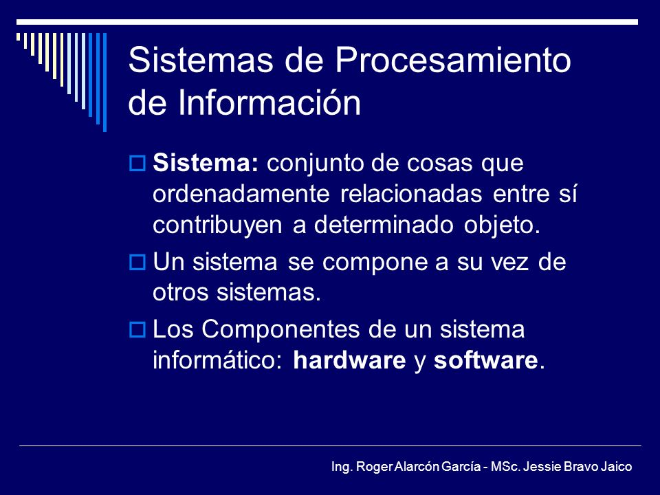 Sistemas de Procesamiento de Información