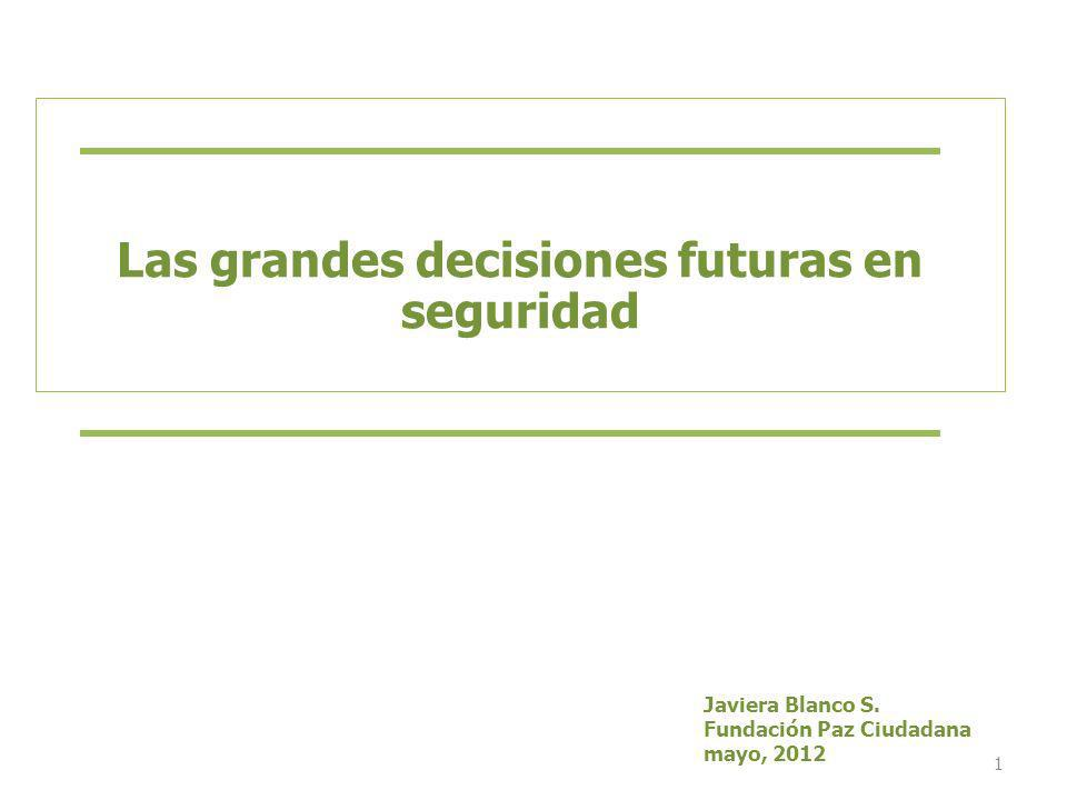 Las grandes decisiones futuras en seguridad