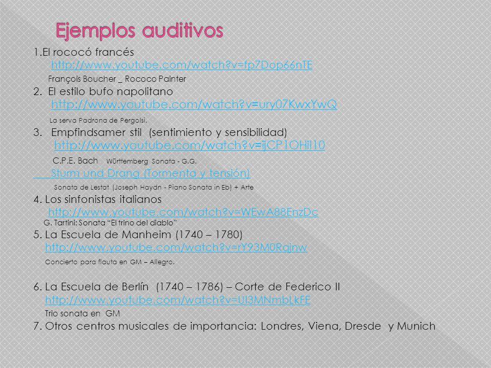 Ejemplos auditivos La serva Padrona de Pergolsi.