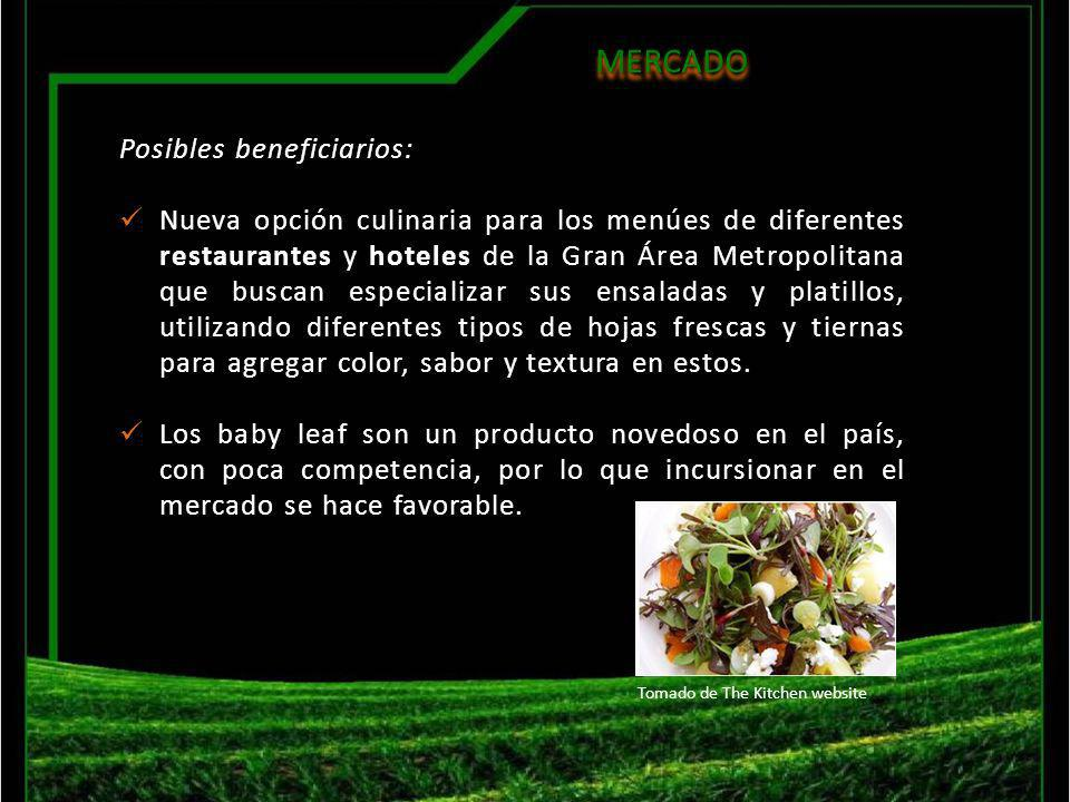 MERCADO Posibles beneficiarios:
