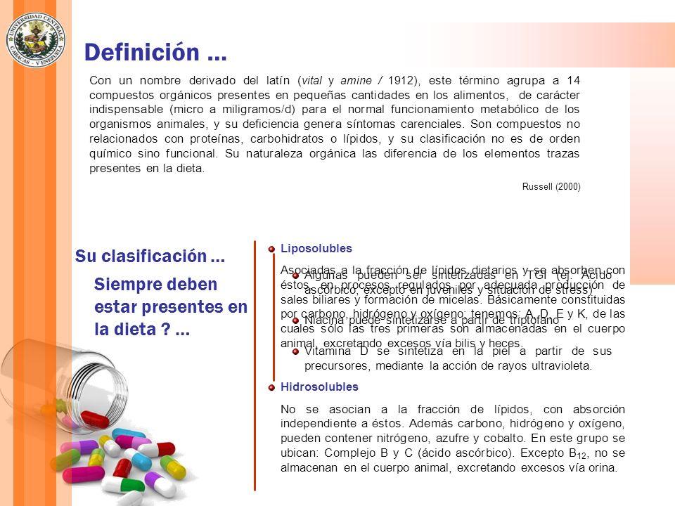 Definición … Su clasificación …