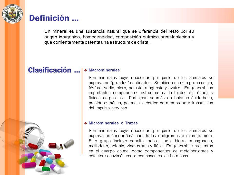 Definición … Clasificación …