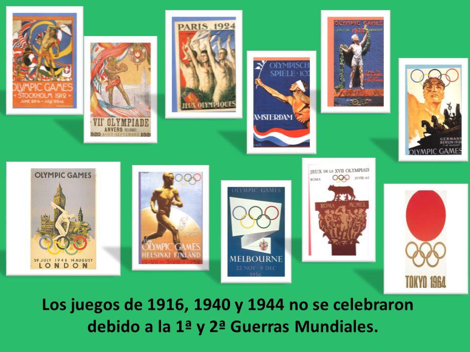 Los juegos de 1916, 1940 y 1944 no se celebraron