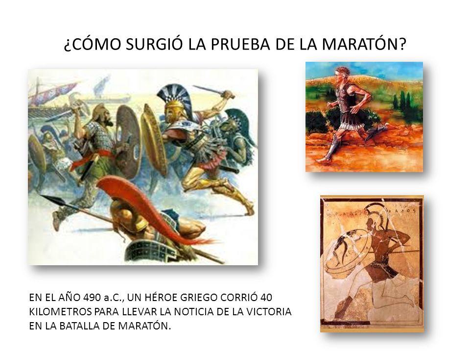¿CÓMO SURGIÓ LA PRUEBA DE LA MARATÓN
