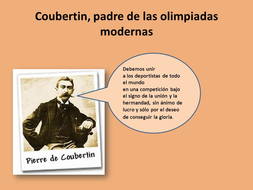 Coubertin, padre de las olimpiadas modernas