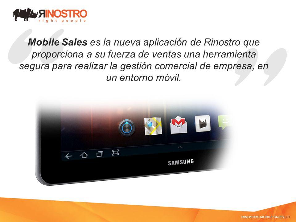 Mobile Sales es la nueva aplicación de Rinostro que proporciona a su fuerza de ventas una herramienta segura para realizar la gestión comercial de empresa, en un entorno móvil.