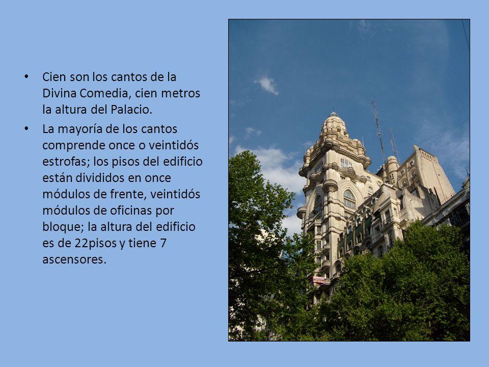 Cien son los cantos de la Divina Comedia, cien metros la altura del Palacio.