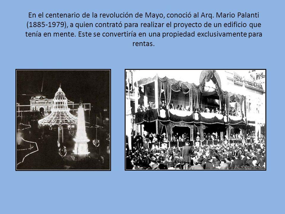 En el centenario de la revolución de Mayo, conoció al Arq
