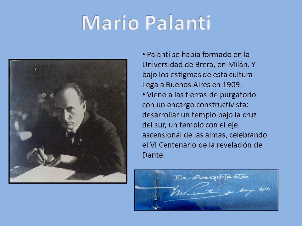 Mario Palanti Palanti se había formado en la Universidad de Brera, en Milán. Y bajo los estigmas de esta cultura llega a Buenos Aires en 1909.