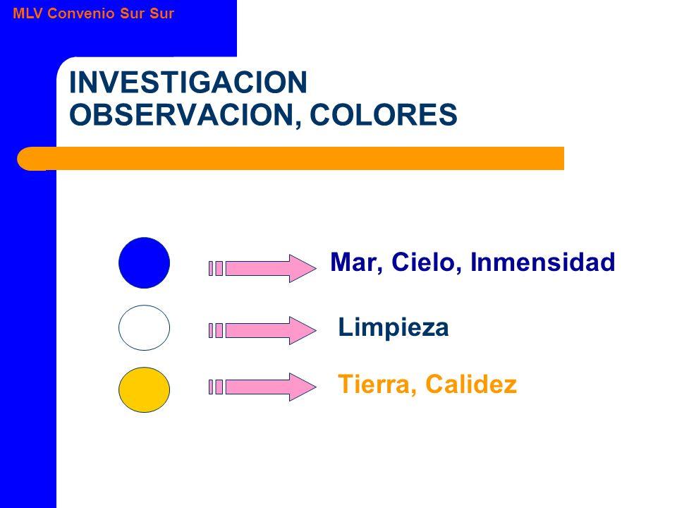INVESTIGACION OBSERVACION, COLORES