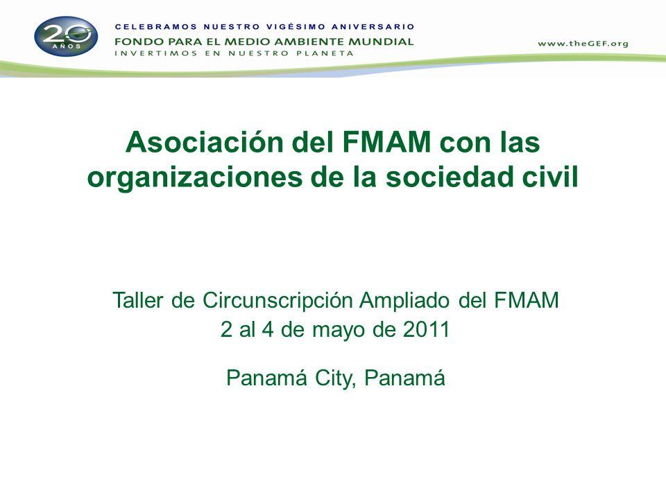 Asociación del FMAM con las organizaciones de la sociedad civil
