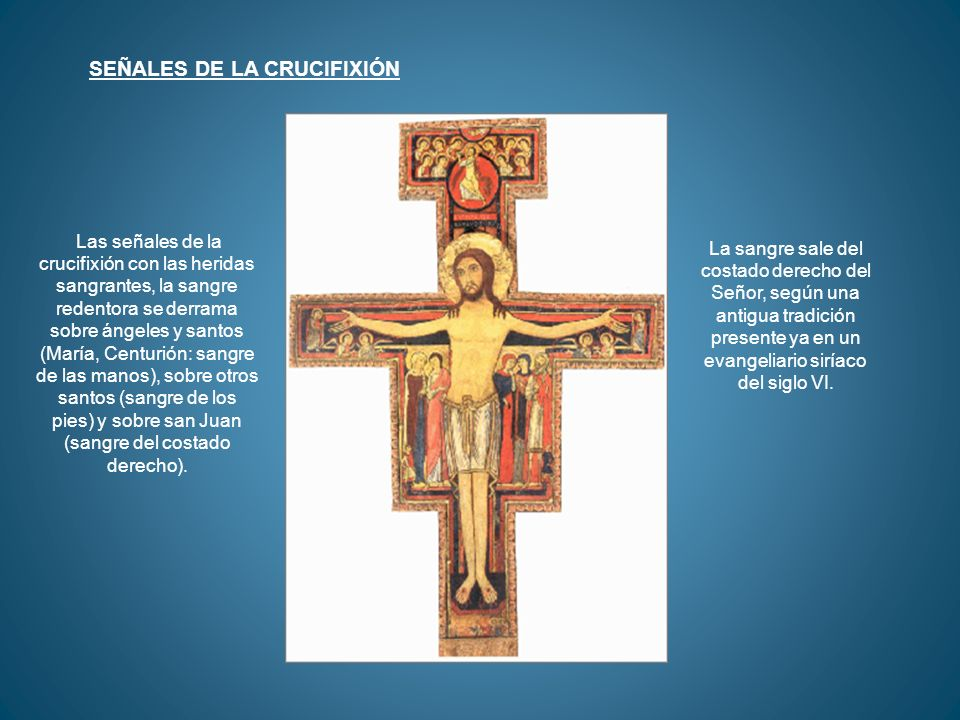 SEÑALES DE LA CRUCIFIXIÓN