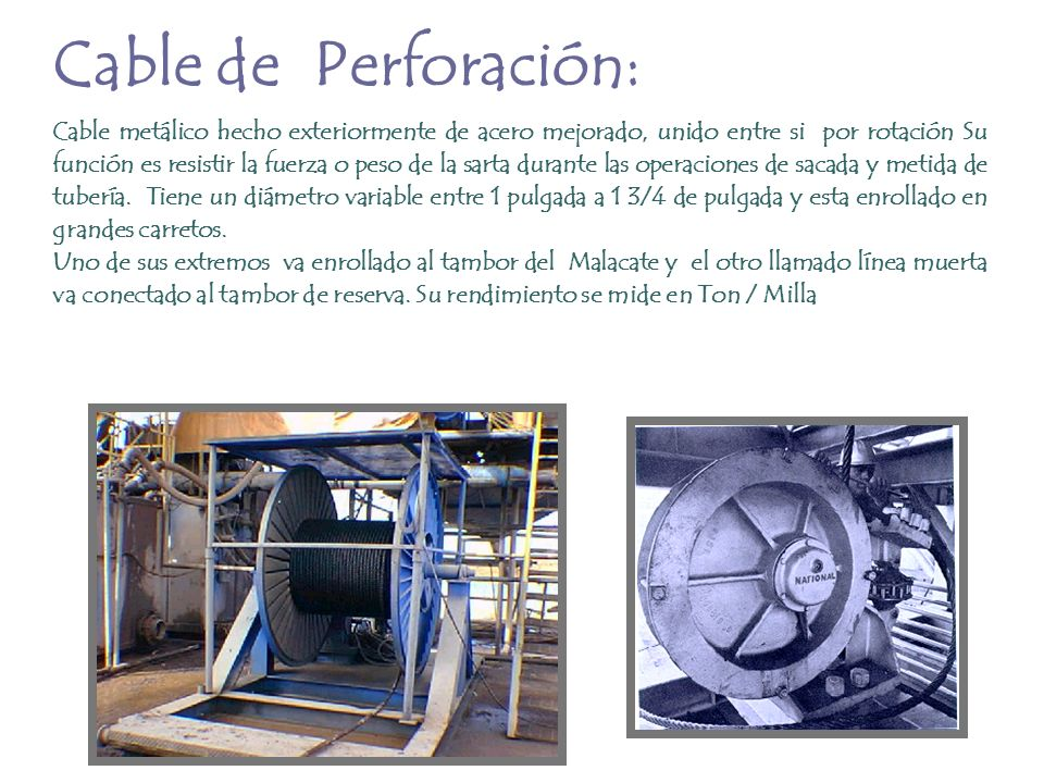 Cable de Perforación: