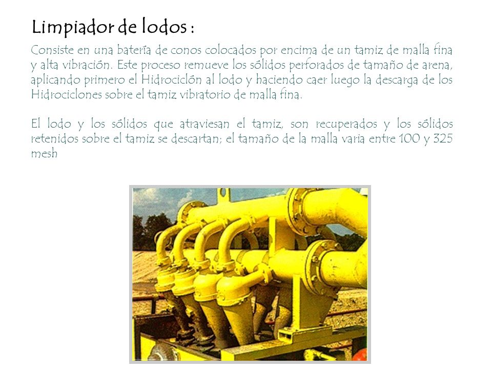 Limpiador de lodos :
