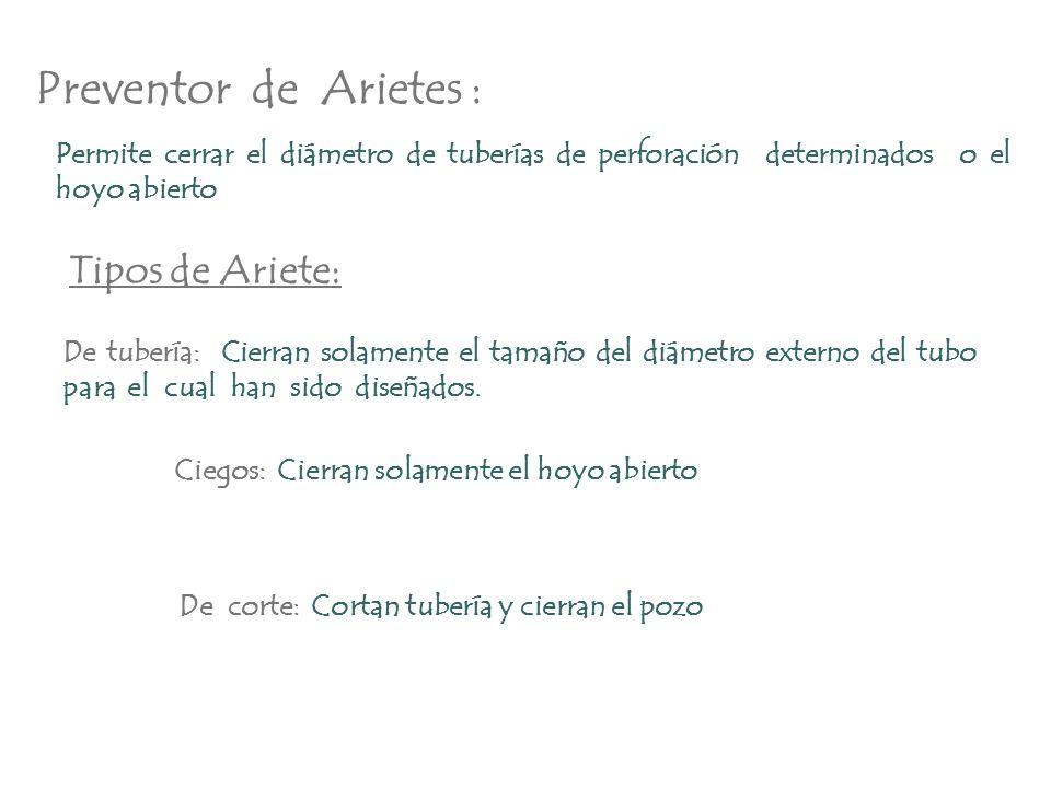Preventor de Arietes : Tipos de Ariete: