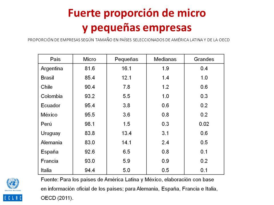 Fuerte proporción de micro y pequeñas empresas