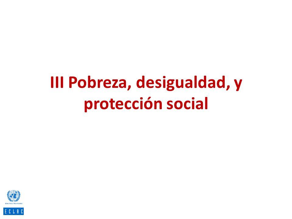 III Pobreza, desigualdad, y protección social