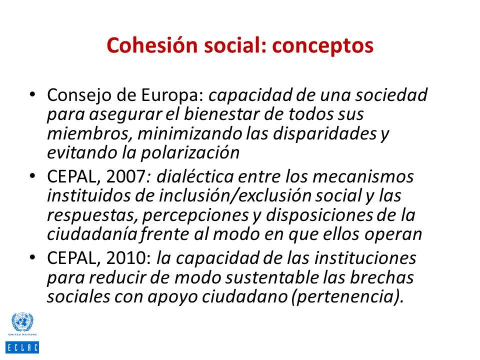 Cohesión social: conceptos