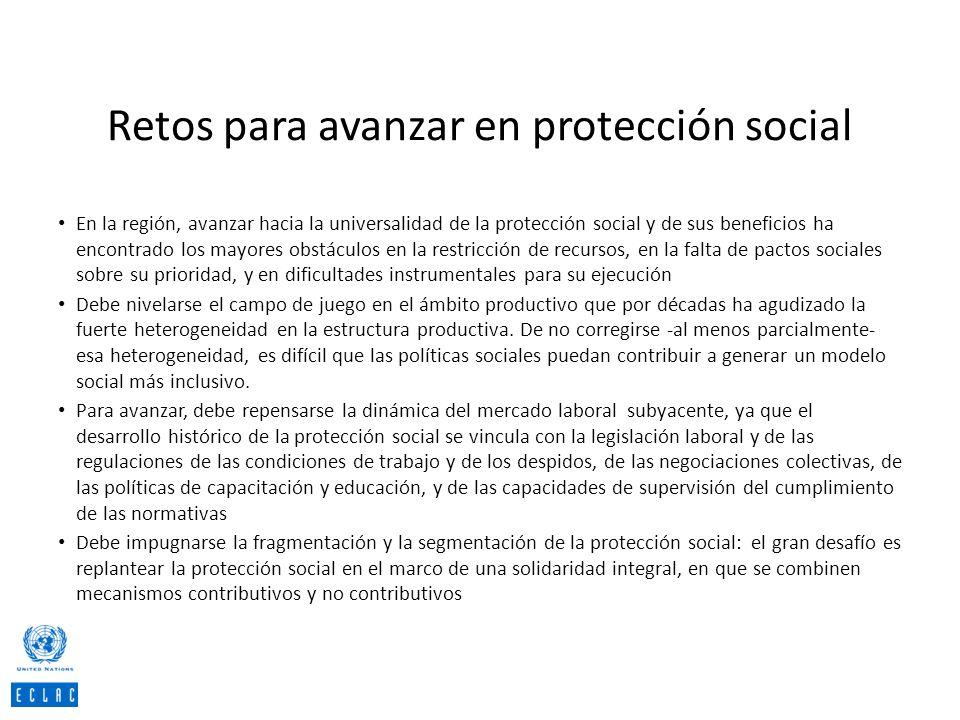 Retos para avanzar en protección social