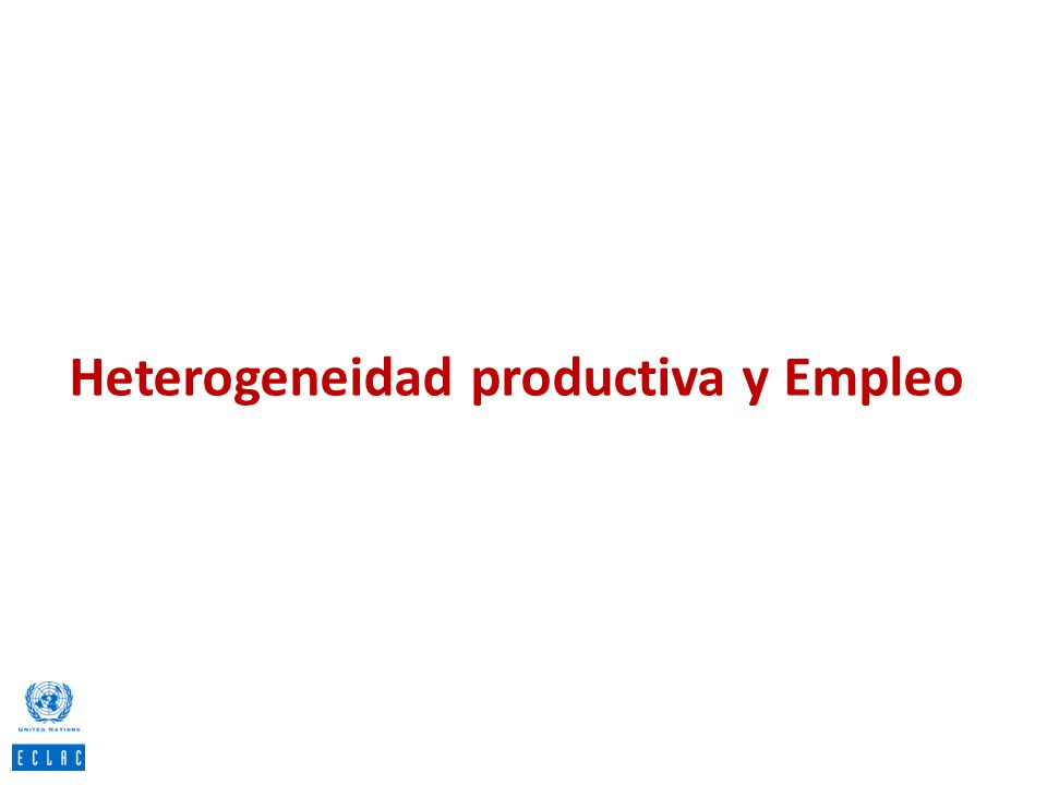 Heterogeneidad productiva y Empleo