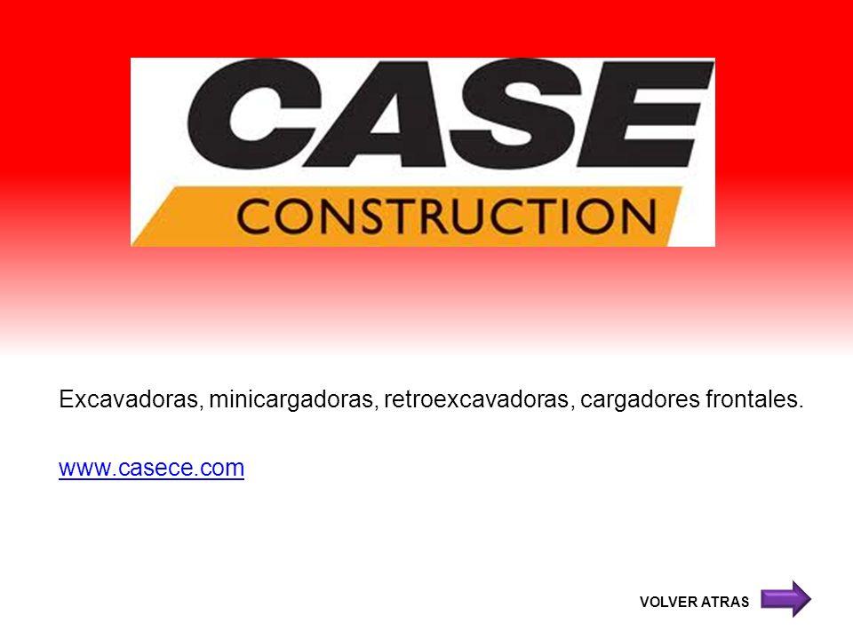 Excavadoras, minicargadoras, retroexcavadoras, cargadores frontales