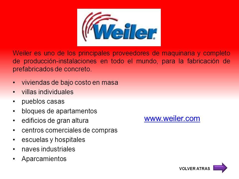 Weiler es uno de los principales proveedores de maquinaria y completo de producción-instalaciones en todo el mundo, para la fabricación de prefabricados de concreto.