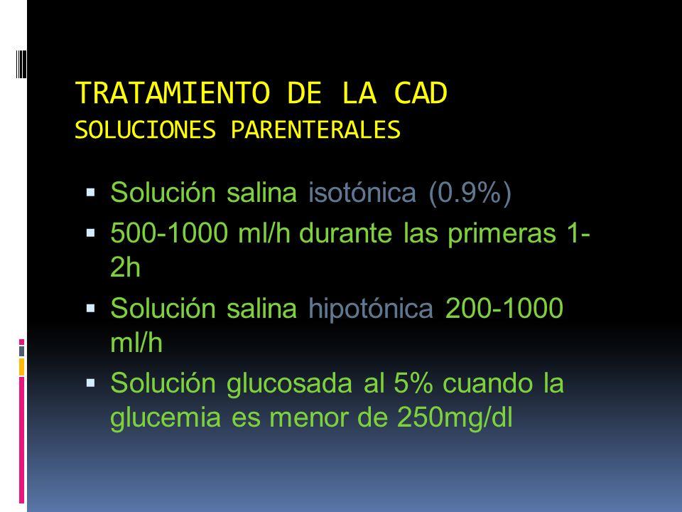 TRATAMIENTO DE LA CAD SOLUCIONES PARENTERALES