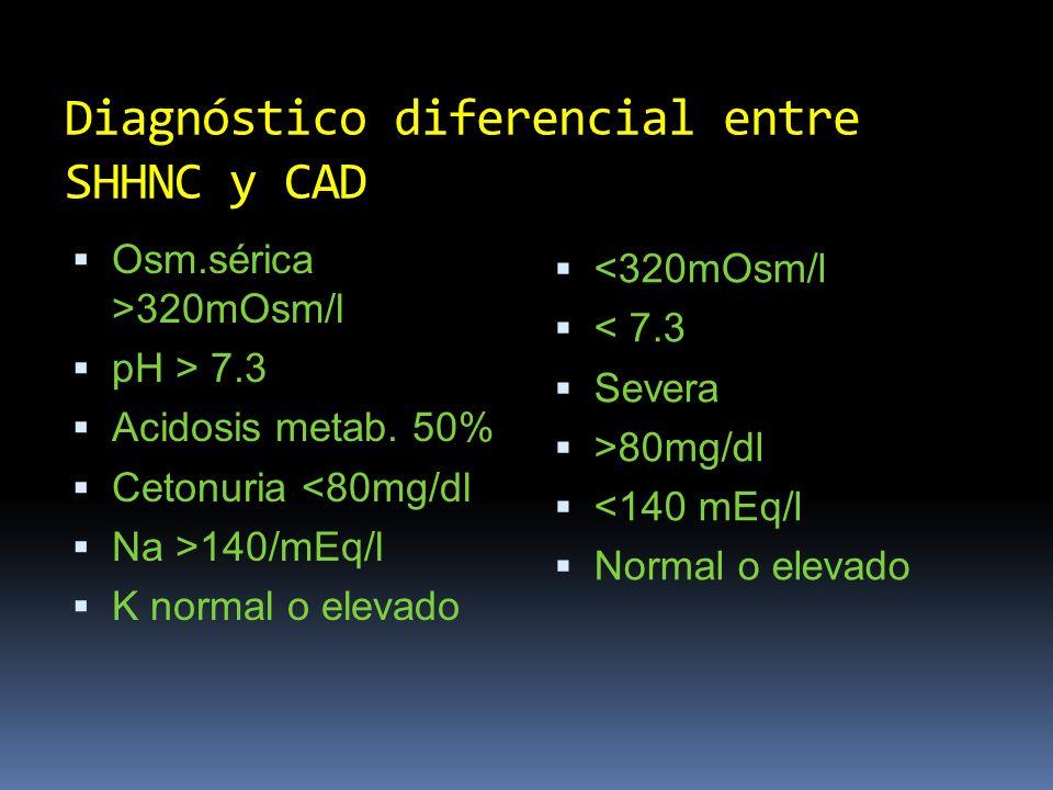 Diagnóstico diferencial entre SHHNC y CAD