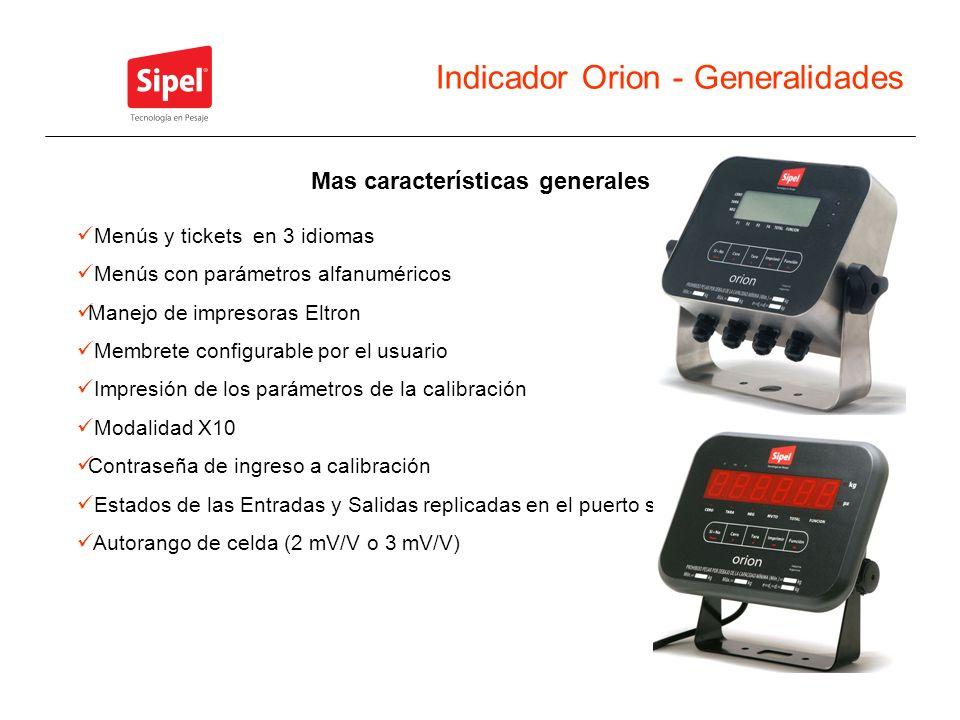 Indicador Orion - Generalidades