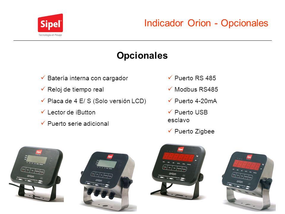 Indicador Orion - Opcionales